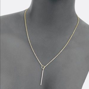 LUXE 14K gold Italy lariat necklace with pendant
